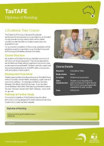 Download the Diploma of Nursing Fact Sheet PDF