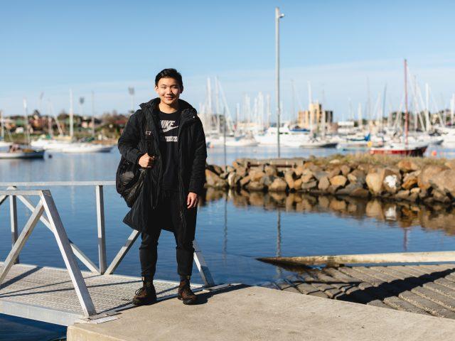 Student by Kangaroo Bay