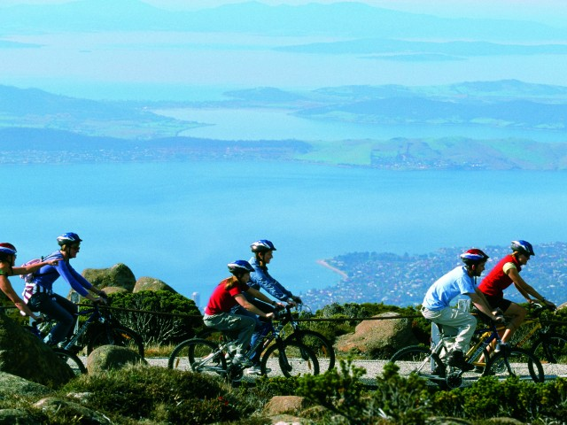 Cycling on Mount Wellington