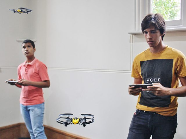 Students with drones