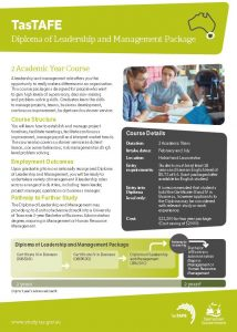 Download the Leadership and Management Fact Sheet PDF